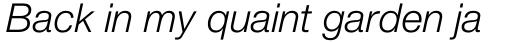 Neue Helvetica Paneuropean 46 Light Italic sample