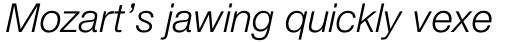 Neue Helvetica Std 46 Light Italic sample