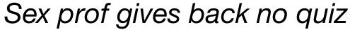 Neue Helvetica Paneuropean 56 Italic sample