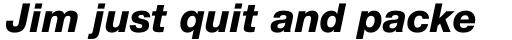 Neue Helvetica Paneuropean 86 Heavy Italic sample