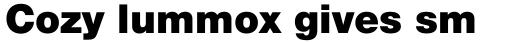 Neue Helvetica Std 95 Black sample