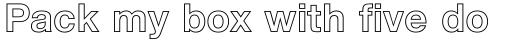 Neue Helvetica Std 75 Bold Outline sample