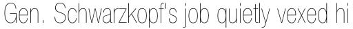 Neue Helvetica Std 27 Condensed Ultra Light sample