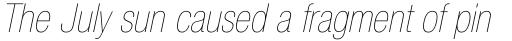 Neue Helvetica Std 27 Condensed Ultra Light Oblique sample