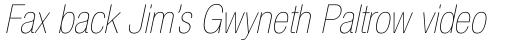 Neue Helvetica Paneuropean 27 Condensed Ultra Light Oblique sample