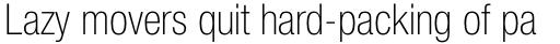 Neue Helvetica Paneuropean 37 Condensed Thin sample