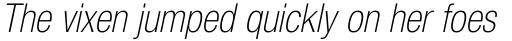 Neue Helvetica Std 37 Condensed Thin Oblique sample