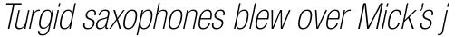 Neue Helvetica Paneuropean 37 Condensed Thin Oblique sample