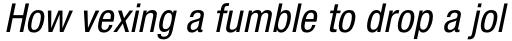 Neue Helvetica Std 57 Condensed Oblique sample