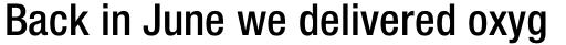 Neue Helvetica Std 67 Condensed Medium sample