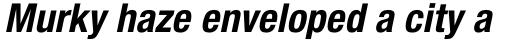 Neue Helvetica Std 77 Condensed Bold Oblique sample