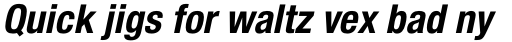 Neue Helvetica Paneuropean 77 Condensed Bold Oblique sample