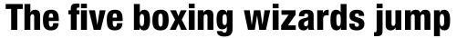 Neue Helvetica Paneuropean 87 Condensed Heavy sample