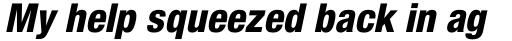Neue Helvetica Paneuropean 87 Condensed Heavy Oblique sample