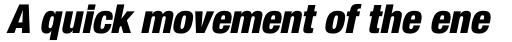 Neue Helvetica Paneuropean 97 Condensed Black Oblique sample