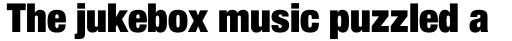 Neue Helvetica Paneuropean 107 Condensed Extra Black sample