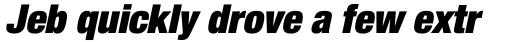 Neue Helvetica Std 107 Condensed Extra Black Oblique sample
