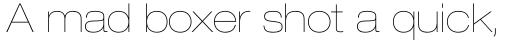 Neue Helvetica Std 23 Extended Ultra Light sample
