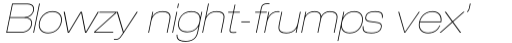 Neue Helvetica Std 23 Extended Ultra Light Oblique sample