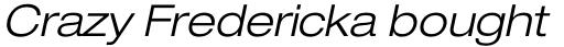 Neue Helvetica Std 43 Extended Light Oblique sample