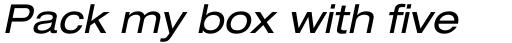 Neue Helvetica Std 53 Extended Oblique sample
