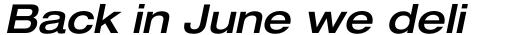 Neue Helvetica Std 63 Extended Medium Oblique sample