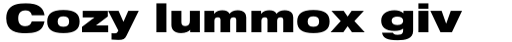 Neue Helvetica Std 93 Extended Black sample