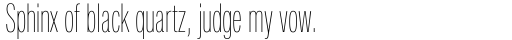 Neue Helvetica Pro 29 Compressed Ultra Light sample