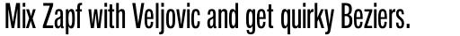 Neue Helvetica Pro 59 Compressed Regular sample