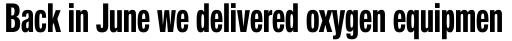 Neue Helvetica Pro 79 Compressed Bold sample