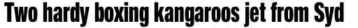 Neue Helvetica Pro 89 Compressed Heavy sample
