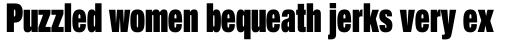 Neue Helvetica Pro 99 Compressed Black sample