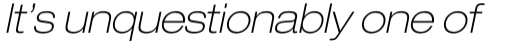 Neue Helvetica Paneuropean 33 Extended Thin Oblique sample