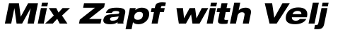 Neue Helvetica Paneuropean 83 Extended Heavy Oblique sample
