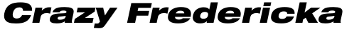 Neue Helvetica Paneuropean 93 Extended Black Oblique sample