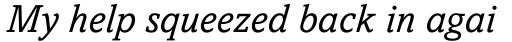 Amasis eText Italic sample
