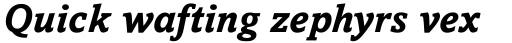 Amasis eText Bold Italic sample