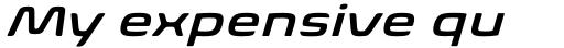 Biome Std Wide Semi Bold Italic sample