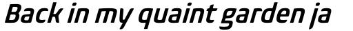 Biome Std Narrow Semi Bold Italic sample