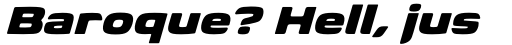 Biome Std Wide Black Italic sample