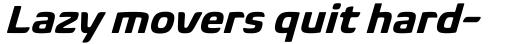Biome Pro Basic Bold Italic sample