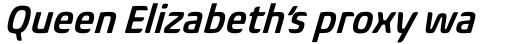 Biome Pro Narrow Semi Bold Italic sample