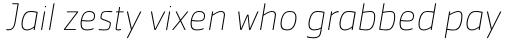 Cachet Pro Thin Italic sample