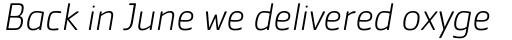Cachet Pro ExtraLight Italic sample