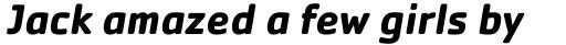 Cachet Pro Bold Italic sample