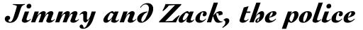 Engravers Oldstyle 205 Black Italic sample