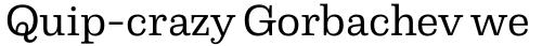 Capital Serif Regular sample
