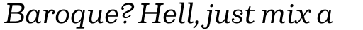 Capital Serif Regular Italic sample