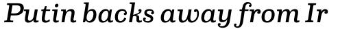 Capital Serif Medium Italic sample