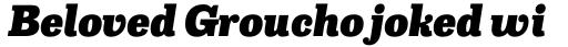 Capital Serif Black Italic sample